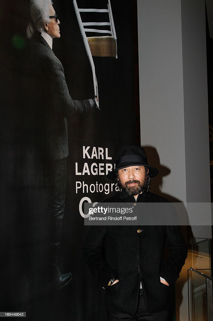 DJ Claude Serieux attends the Karl Lagerfeld Photo Exhibition Preview at the Showroom Cassina on January 31, 2013 in Paris, France.