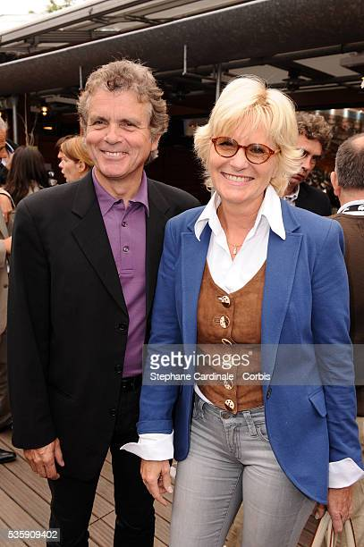 Claude Serillon and Catherine Ceylac at Roland Garros Village