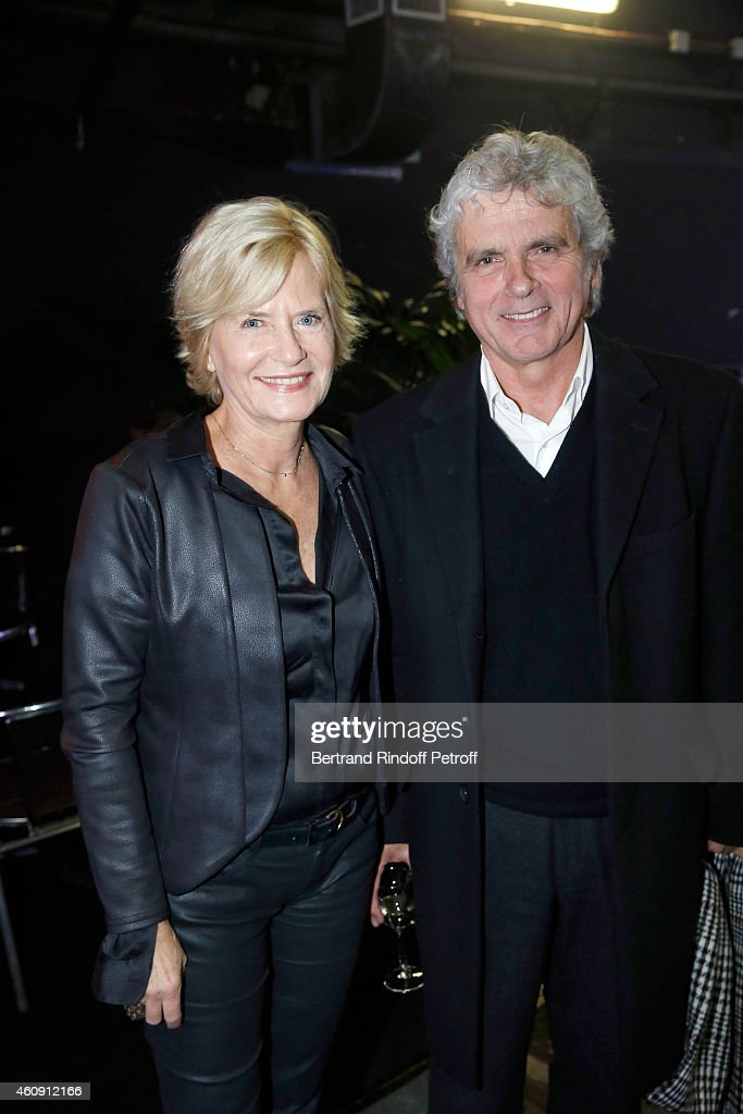 Claude Serillon and Catherine Ceylac attend in Backstage the Laurent Gerra Show, at Palais des Sports on December 27, 2014 in Paris, France.