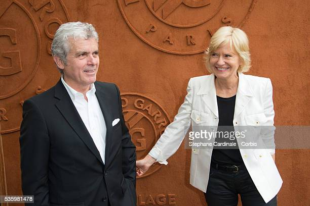 Claude Serillon and Catherine Ceylac attend the Roland Garros French Tennis Open 2014