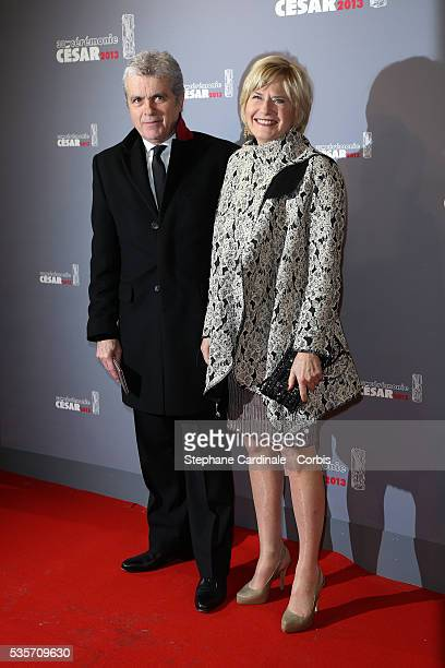 Claude Serillon and his Wife Catherine Ceylac arrive at Cesar Film Awards 2013 at Theatre du Chatelet in Paris
