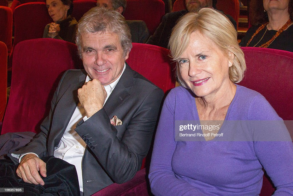 Claude Serillon and his wife Catherine Ceylac attend 'Populaire' Screening Hosted By Europe 1 on November 13, 2012 in Paris, France.