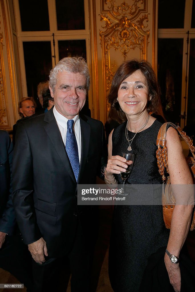 Claude Serillon and Martine Laroche-Joubert at Laurence Haim Is Honoured With The Insignes De Chevalier De La Legion D'Honneur at Salons France-Ameriques on December 12, 2015 in Paris, France.