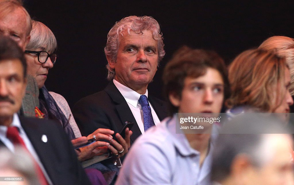 Claude Serillon attends day one of the Davis Cup tennis final between France and Switzerland at the Grand Stade Pierre Mauroy on November 21, 2014 in Lille, France.
