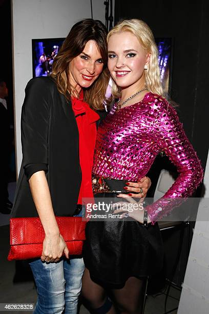 Claudelle Deckert and Bonnie Strange attend the Passionata show during the Platform Fashion February 2015 on February 1 2015 in Duesseldorf Germany