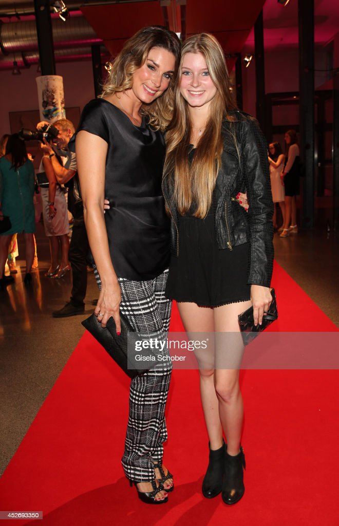 Claudelle Deckert and her daughter Romy attend the New Faces Award Fashion 2014 on July 25, 2014 in Duesseldorf, Germany.