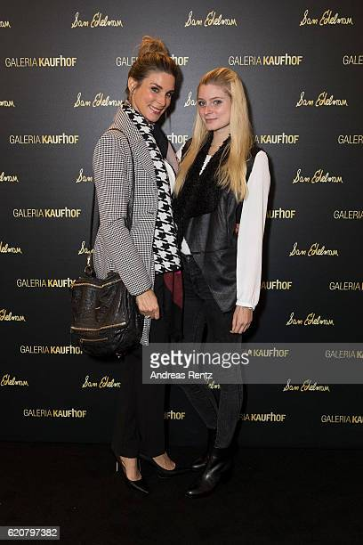 Claudelle Deckert and her daughter Romy attend the opening of the 'Dream Concept' floor at Galeria Kaufhof on November 2 2016 in Duesseldorf Germany