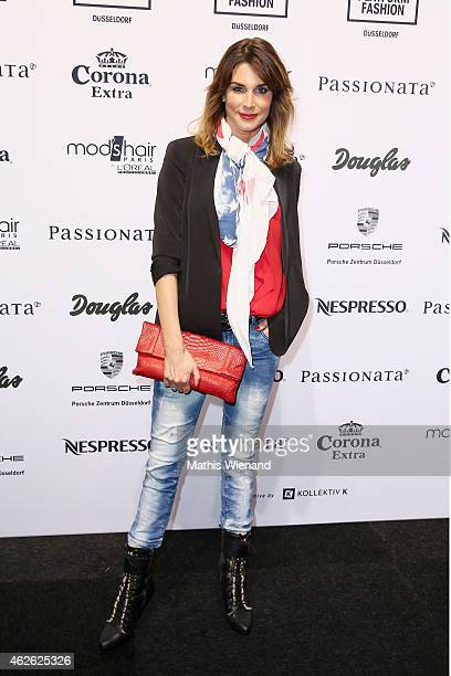 Claudelle Deckert attends the Passionata show during the Platform Fashion February 2015 on February 1 2015 in Duesseldorf Germany