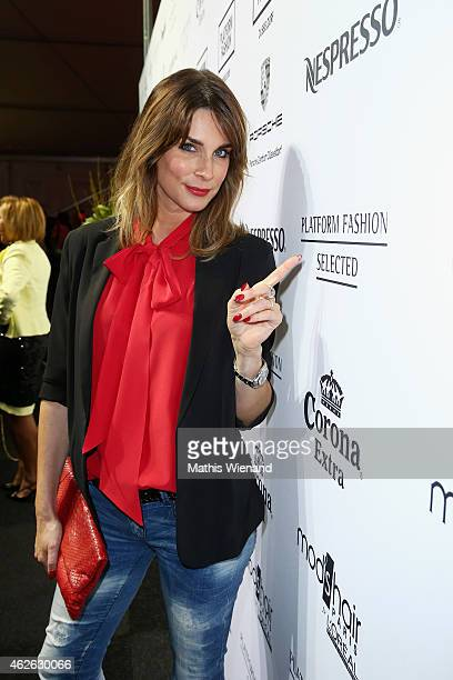 Claudelle Deckert attends the Platform Fashion Selected show during the Platform Fashion February 2015 on February 1 2015 in Duesseldorf Germany