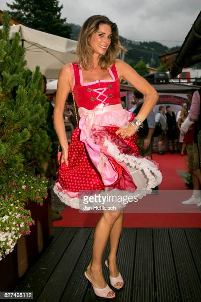 Claudelle Deckert during the 14th Almrauschparty at Rosi's Sonnbergstuben on August 4 2017 in Kitzbuehel Austria