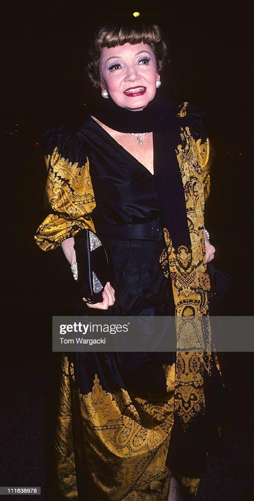 Claudette Colbert at the Metropolitan Museum of Art Fashion Awards - 1980