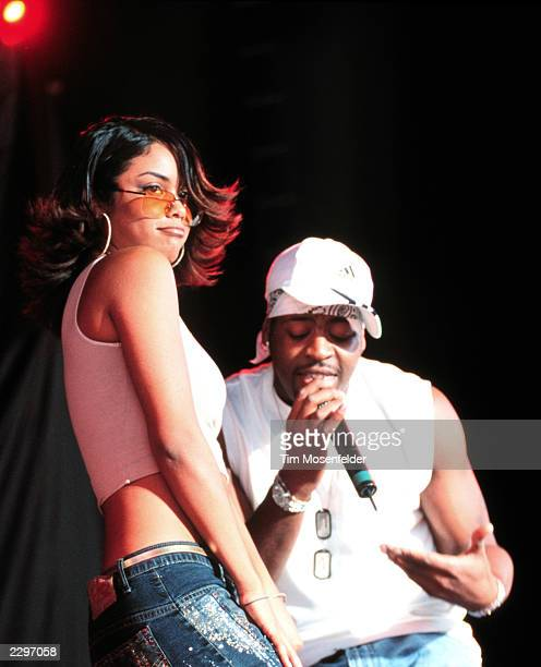Claudette Ortiz and Robbie Pardlo of City High performing at The Chronicle Pavillion in Concord Calif on Sept1st 2001 MTV TRL Tour 2001 Image By Tim...