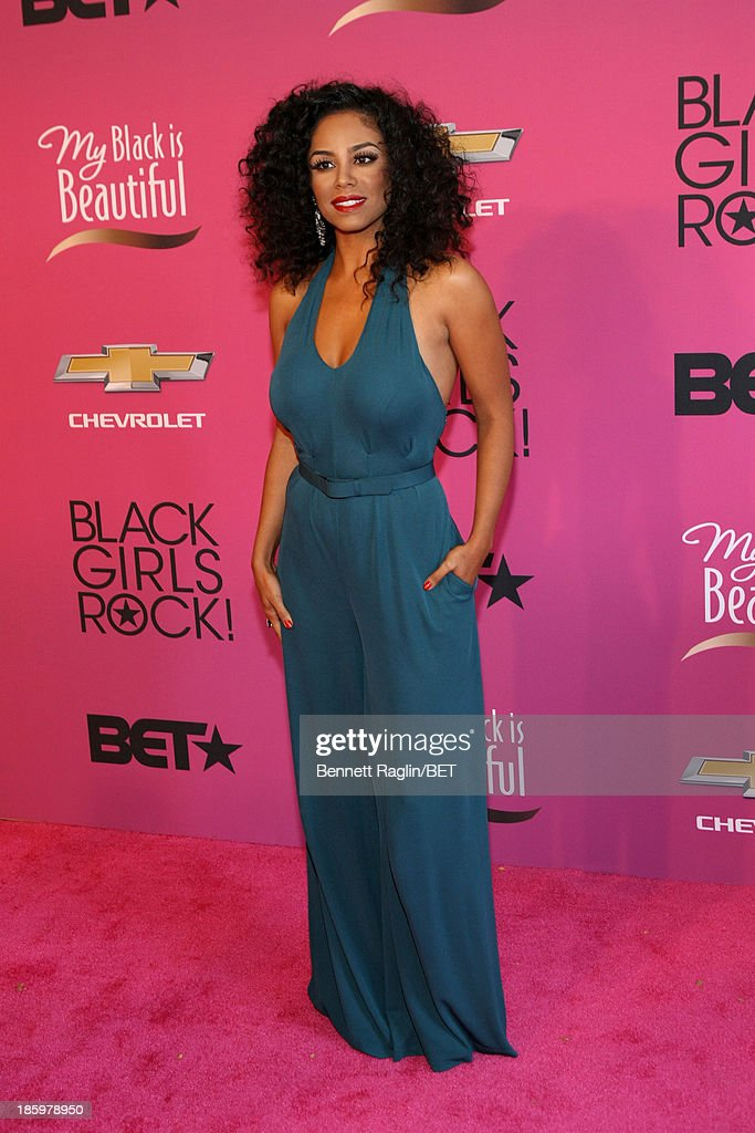 <a gi-track='captionPersonalityLinkClicked' href=/galleries/search?phrase=Claudette+Ortiz&family=editorial&specificpeople=653441 ng-click='$event.stopPropagation()'>Claudette Ortiz</a> attends BET Black Girls Rock Red Carpet at New Jersey Performing Arts Center on October 26, 2013 in Newark, New Jersey.
