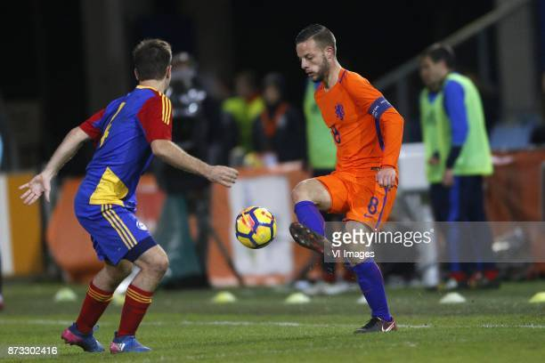 Claudi Bove of Jong Andorra Bart Ramselaar of Jong Oranje during the EURO U21 2017 qualifying match between Netherlands U21 and Andorra U21 at the...
