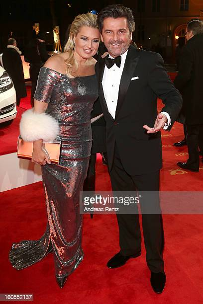 Claudia Anders and Thomas Anders attend 'Goldene Kamera 2013' at Axel Springer Haus on February 2 2013 in Berlin Germany