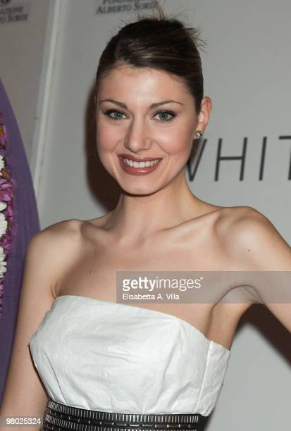 Claudia Andreatta attends 'L'Arte Nell'Uovo Di Pasqua' Charity Event at the White Gallery on March 24 2010 in Rome Italy