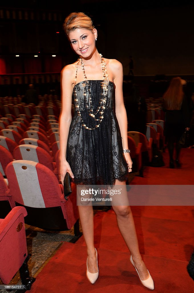 Claudia Andreatta attends 'Vorrei... 2013' Charity Event To Support Fondazione FFC at Teatro Sistina on October 28, 2013 in Rome, Italy.