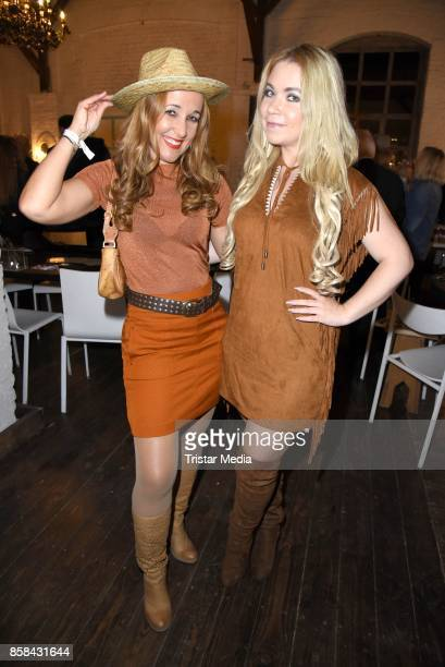 Claudia Campus and Nadine Trompka attend the 'CMS Gamblers Night Western Style' of Christoph Metzelder Foundation on October 6 2017 in Berlin Germany