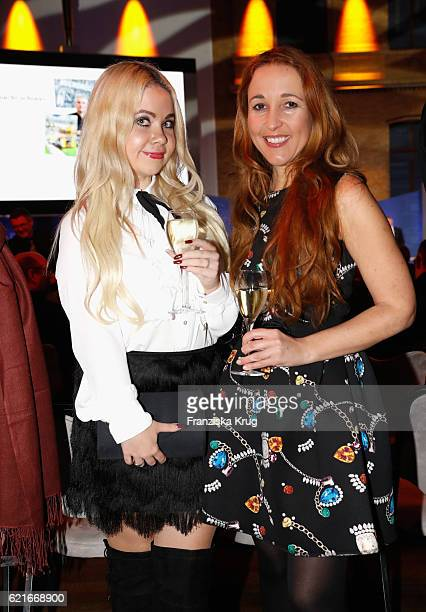 Claudia Campus and Nadine Trompka during the VDZ Publishers' Night 2016 at Deutsche Telekom's representative office on November 7 2016 in Berlin...