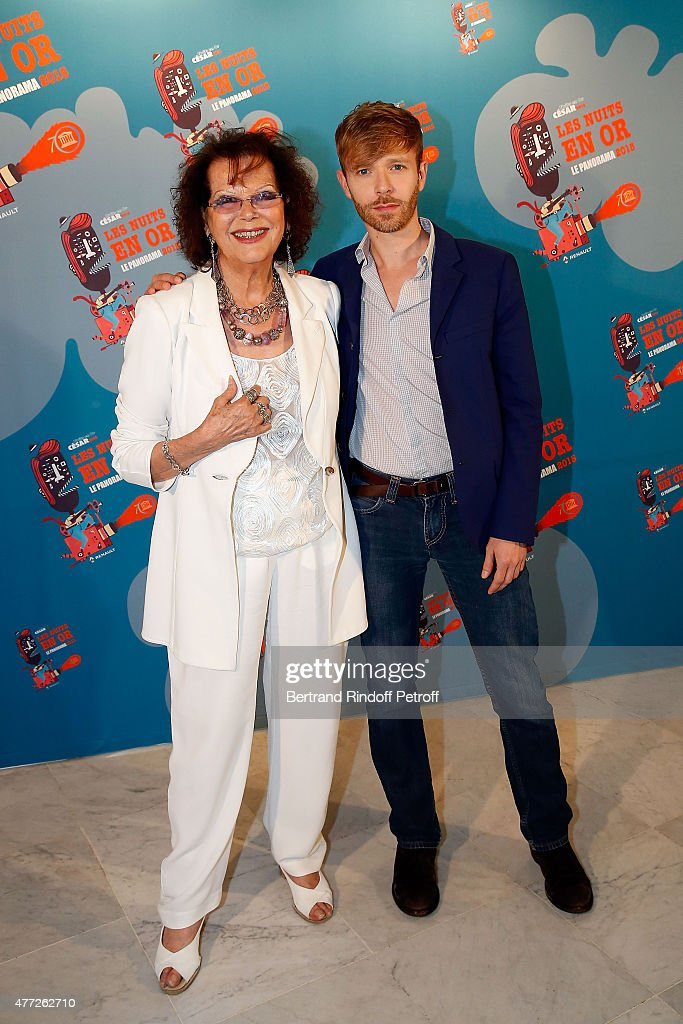 <a gi-track='captionPersonalityLinkClicked' href=/galleries/search?phrase=Claudia+Cardinale&family=editorial&specificpeople=208838 ng-click='$event.stopPropagation()'>Claudia Cardinale</a> and Alexandre Styker attend 'Les Nuits En Or 2015' Dinner at UNESCO on June 15, 2015 in Paris, France.