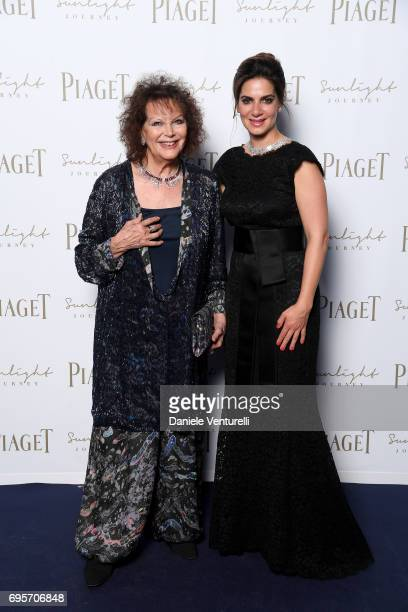 Claudia Cardinale and Chabi Nouri attend Piaget Sunlight Journey Collection Launch on June 13 2017 in Rome Italy