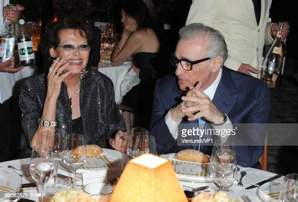 Claudia Cardinale and Director Martin Scorsese attend the Vanity Fair and Gucci Party Honoring Martin Scorsese during the 63rd Annual Cannes Film...