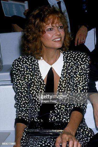 Claudia Cardinale attends a fashion show circa the 1980s