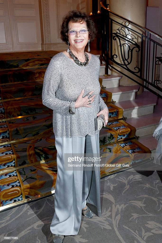 <a gi-track='captionPersonalityLinkClicked' href=/galleries/search?phrase=Claudia+Cardinale&family=editorial&specificpeople=208838 ng-click='$event.stopPropagation()'>Claudia Cardinale</a> attends 'Global Gift Gala' at Hotel George V on May 13, 2013 in Paris, France.