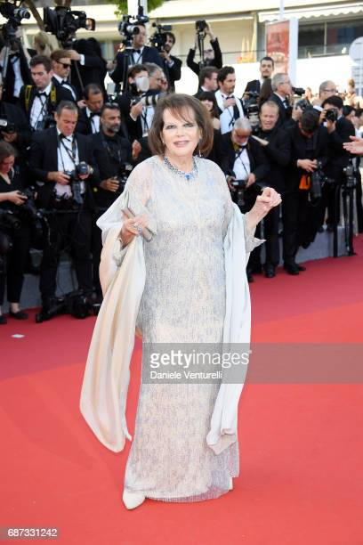 Claudia Cardinale attends the 70th Anniversary screening during the 70th annual Cannes Film Festival at Palais des Festivals on May 23 2017 in Cannes...