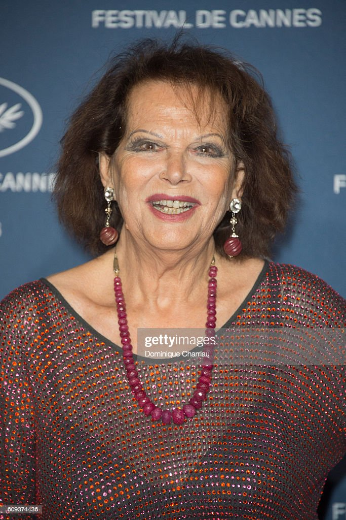 Claudia Cardinale attends the Cannes Film Festival : 70th Anniversary Party at Palais Des Beaux Arts on September 20, 2016 in Paris, France.