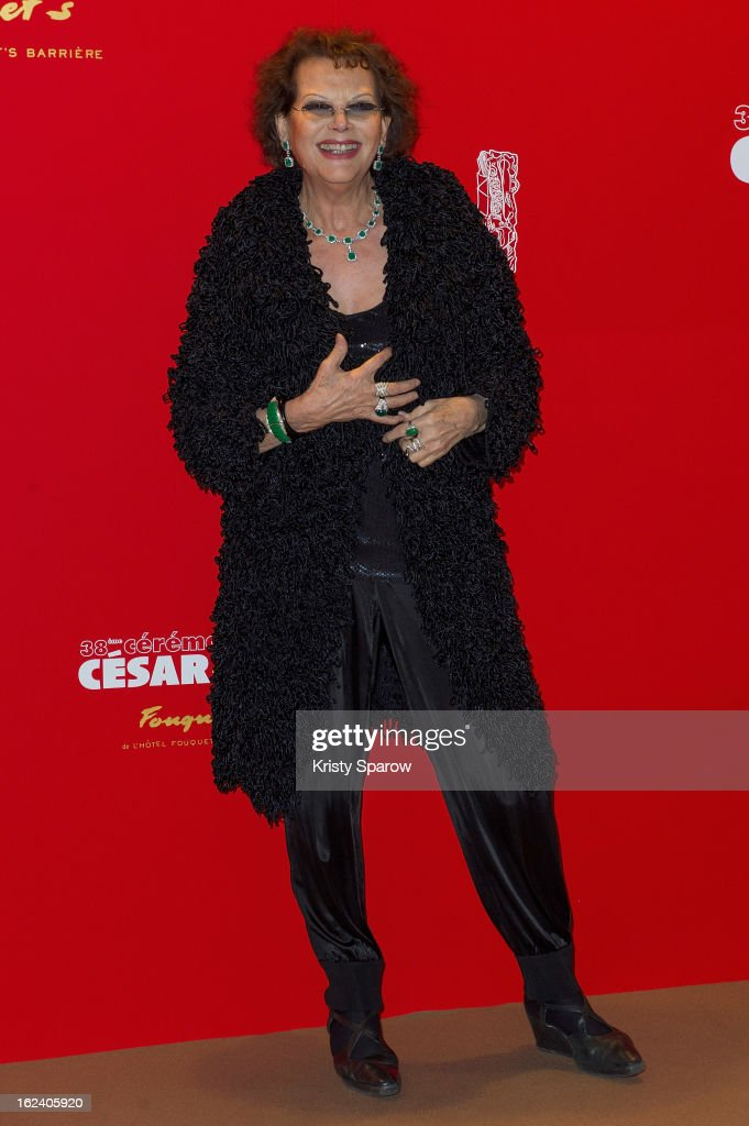 Claudia Cardinale attends the Cesar Film Awards 2013 at Le Fouquet's on February 22, 2013 in Paris, France.