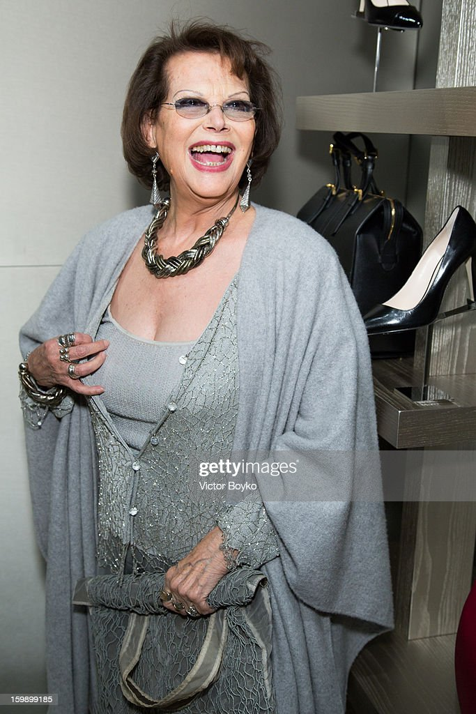 Claudia Cardinale attends the Giorgio Armani Paris avenue Montaigne boutique opening on January 22, 2013 in Paris, France.