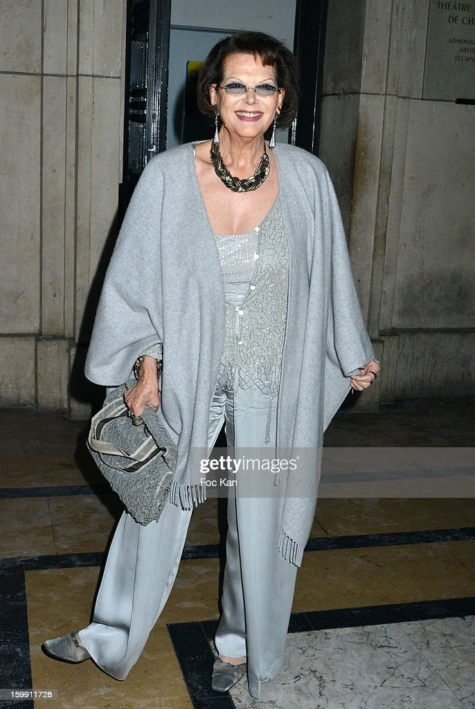 Claudia Cardinale attends the Giorgio Armani Prive Spring/Summer 2013 Haute-Couture show as part of Paris Fashion Week at Theatre National de Chaillot on January 22, 2013 in Paris, France.