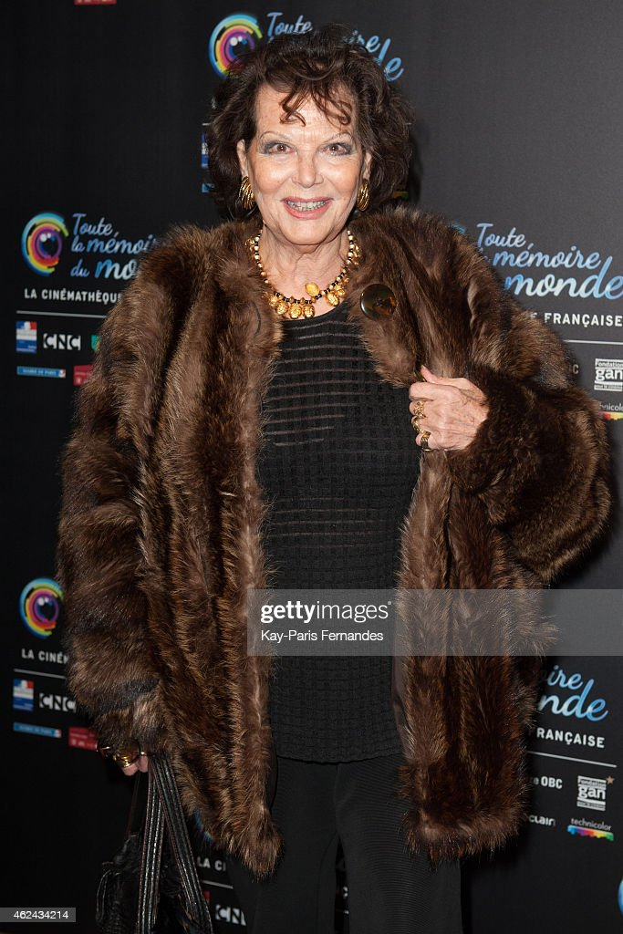<a gi-track='captionPersonalityLinkClicked' href=/galleries/search?phrase=Claudia+Cardinale&family=editorial&specificpeople=208838 ng-click='$event.stopPropagation()'>Claudia Cardinale</a> attends the 'Toute La Memoire Du Monde' : 3rd Film Festival at Cinematheque Francaise on January 28, 2015 in Paris, France.