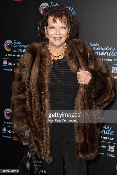Claudia Cardinale attends the 'Toute La Memoire Du Monde' 3rd Film Festival at Cinematheque Francaise on January 28 2015 in Paris France