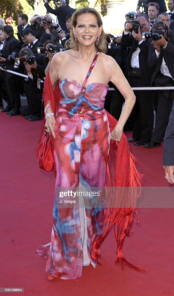 <a gi-track='captionPersonalityLinkClicked' href=/galleries/search?phrase=Claudia+Cardinale&family=editorial&specificpeople=208838 ng-click='$event.stopPropagation()'>Claudia Cardinale</a> during 2003 Cannes Film Festival - 'Le Temp Du Loup' Premiere at Palais Des Festival in Cannes, France.
