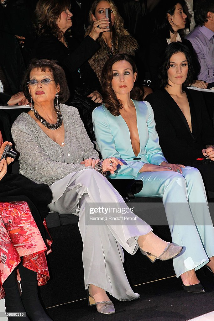 <a gi-track='captionPersonalityLinkClicked' href=/galleries/search?phrase=Claudia+Cardinale&family=editorial&specificpeople=208838 ng-click='$event.stopPropagation()'>Claudia Cardinale</a>, <a gi-track='captionPersonalityLinkClicked' href=/galleries/search?phrase=Elsa+Zylberstein&family=editorial&specificpeople=213054 ng-click='$event.stopPropagation()'>Elsa Zylberstein</a> and <a gi-track='captionPersonalityLinkClicked' href=/galleries/search?phrase=Clotilde+Hesme&family=editorial&specificpeople=2265189 ng-click='$event.stopPropagation()'>Clotilde Hesme</a> attend the Giorgio Armani Prive Spring/Summer 2013 Haute-Couture show as part of Paris Fashion Week at Theatre National de Chaillot on January 22, 2013 in Paris, France.