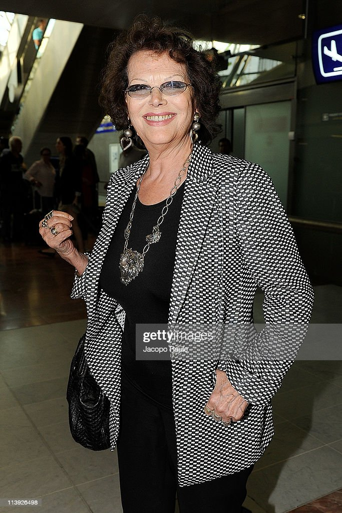 <a gi-track='captionPersonalityLinkClicked' href=/galleries/search?phrase=Claudia+Cardinale&family=editorial&specificpeople=208838 ng-click='$event.stopPropagation()'>Claudia Cardinale</a> is seen arriving at Nice Airport on May 10, 2011 in Nice, France.