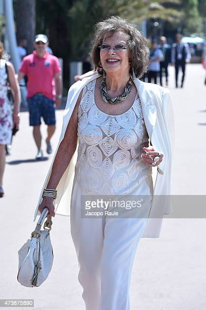 Claudia Cardinale is seen on day 6 of the 68th annual Cannes Film Festival on May 18 2015 in Cannes France