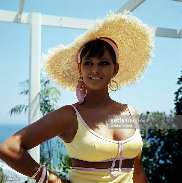 Claudia Cardinale relaxes off set circa 1968