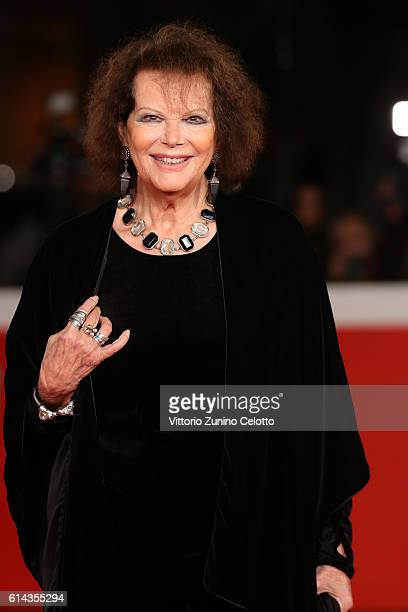 Claudia Cardinale walks a red carpet for 'Moonlight' at Auditorium Parco Della Musica on October 13 2016 in Rome Italy