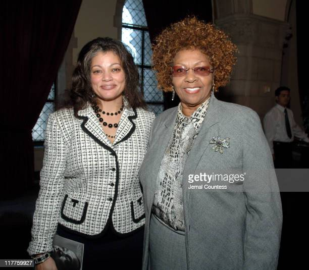 Claudia Casimar and Cissy Houston during The 'Realizing the Dream' Martin Luther King Jr Tribute Reception at Riverside Church in New York City New...
