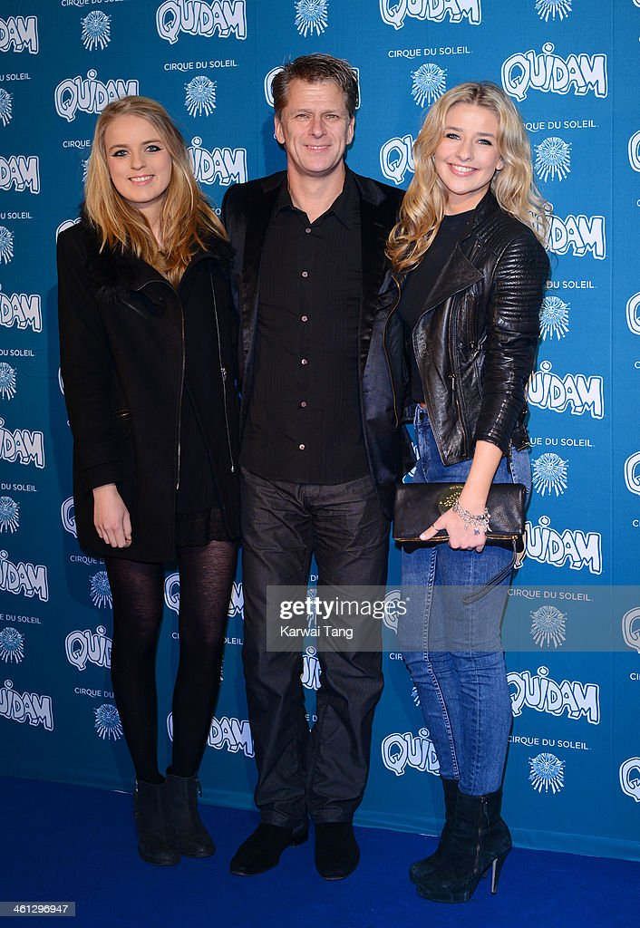 Claudia Castle Andrew Castle and Georgina Castle attend the VIP night for Cirque Du Soleil Quidam at Royal Albert Hall on January 7 2014 in London...