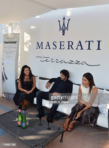 Claudia Catalli actors Marco Bocci and Valeria Solarino attend a CineCoktail during the 70th Venice International Film Festival at Terrazza Maserati...