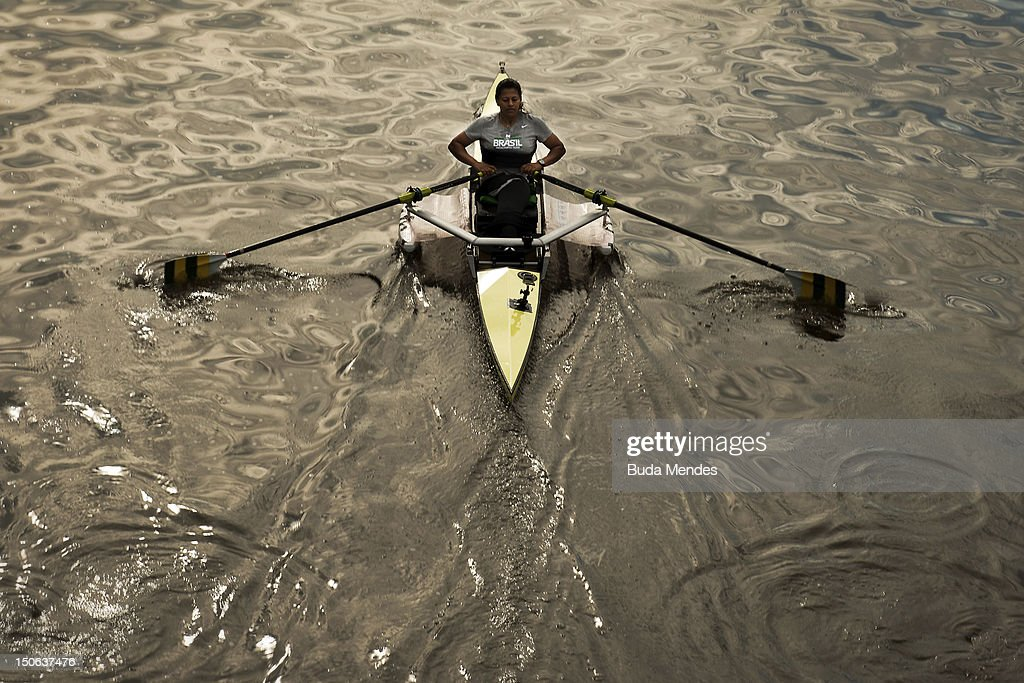 Claudia Cicero during a rowing training session of the Brazilian Paralympic team on August 19 2012 in Manchester England