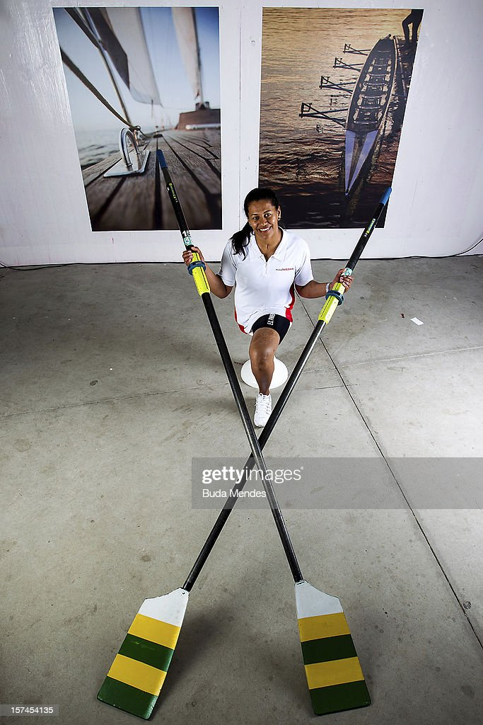 Claudia Cicero poses for a picture during the presentation of Team Nissan for Rio de Janeiro Olympics Games 2016 at Cine Lagoon on November 27, 2012 in Rio de Janeiro, Brazil.