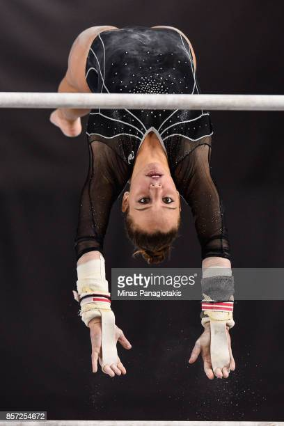 Claudia Colom of Spain competes on the uneven bars during the qualification round of the Artistic Gymnastics World Championships on October 3 2017 at...
