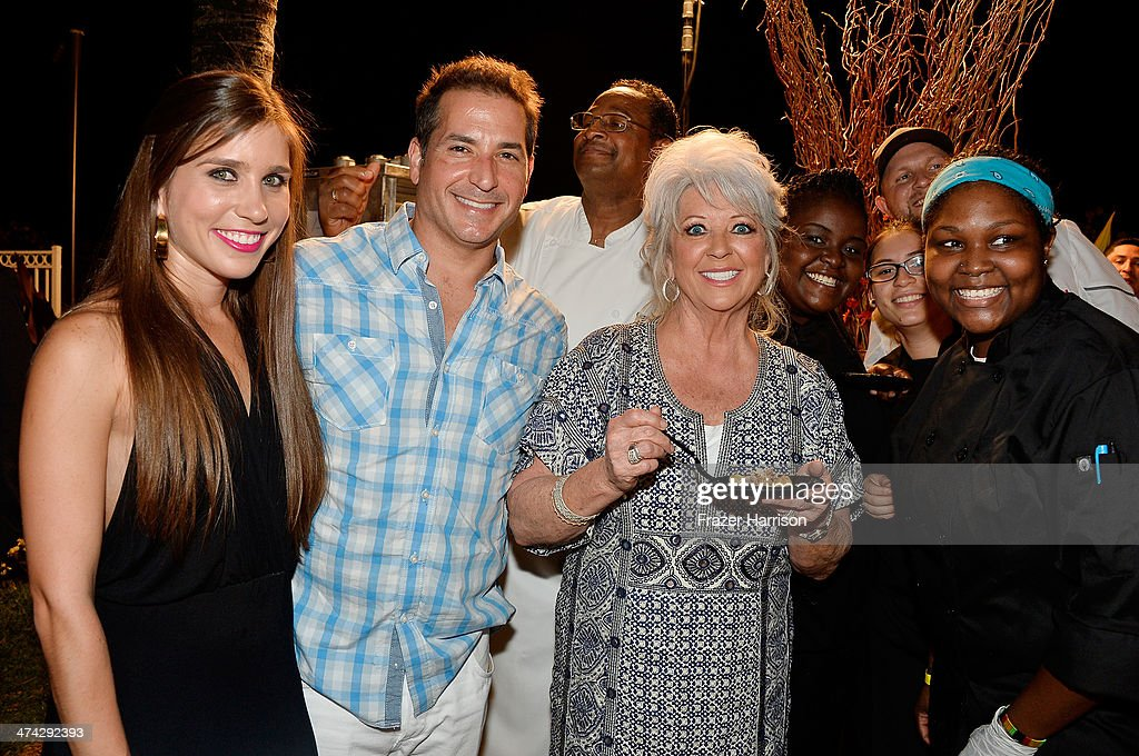 Claudia Deen, Bobby Deen, <a gi-track='captionPersonalityLinkClicked' href=/galleries/search?phrase=Paula+Deen&family=editorial&specificpeople=875895 ng-click='$event.stopPropagation()'>Paula Deen</a>, and Ebony Nole attend the Thrillist's BBQ & The Blues hosted by Bobby Deen during the Food Network South Beach Wine & Food Festival at Eden Roc Hotel on February 22, 2014 in Miami Beach, Florida.