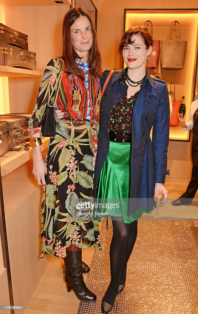 Claudia Donaldson (L) and Jasmine Guinness attend the Moynat London boutique opening on March 12, 2014 in London, England.