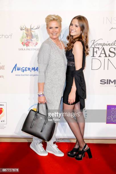Claudia Effenberg and her daughter Lucia Strunz attend the Kempinski Fashion Dinner on May 23 2017 in Munich Germany